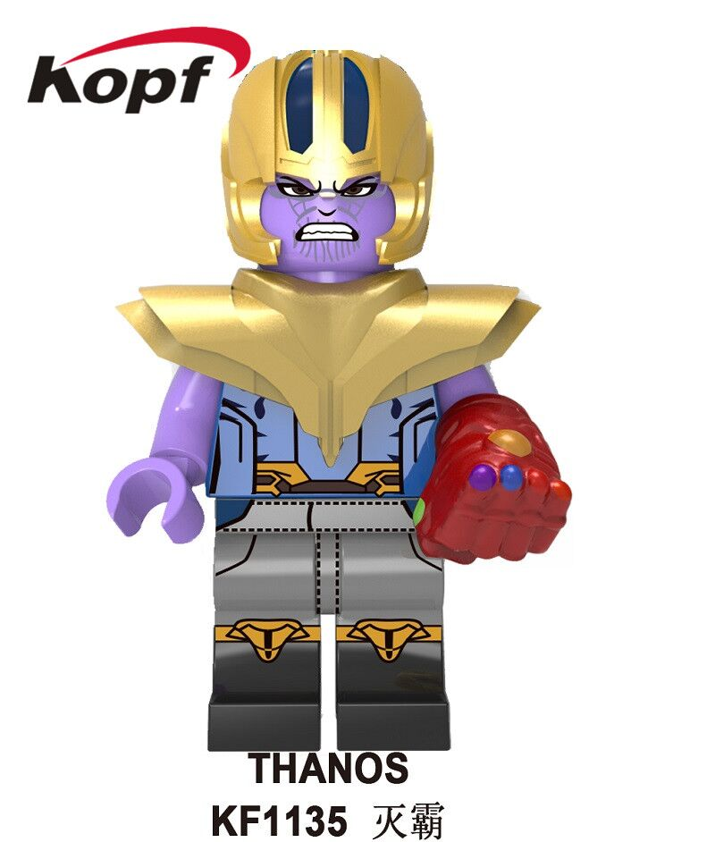 Building Blocks The Avengers 4 INFINITY WAR Thor Hawkeye Power Stone Thanos Black Widow Figures Gift For Children Toys KF1135 image