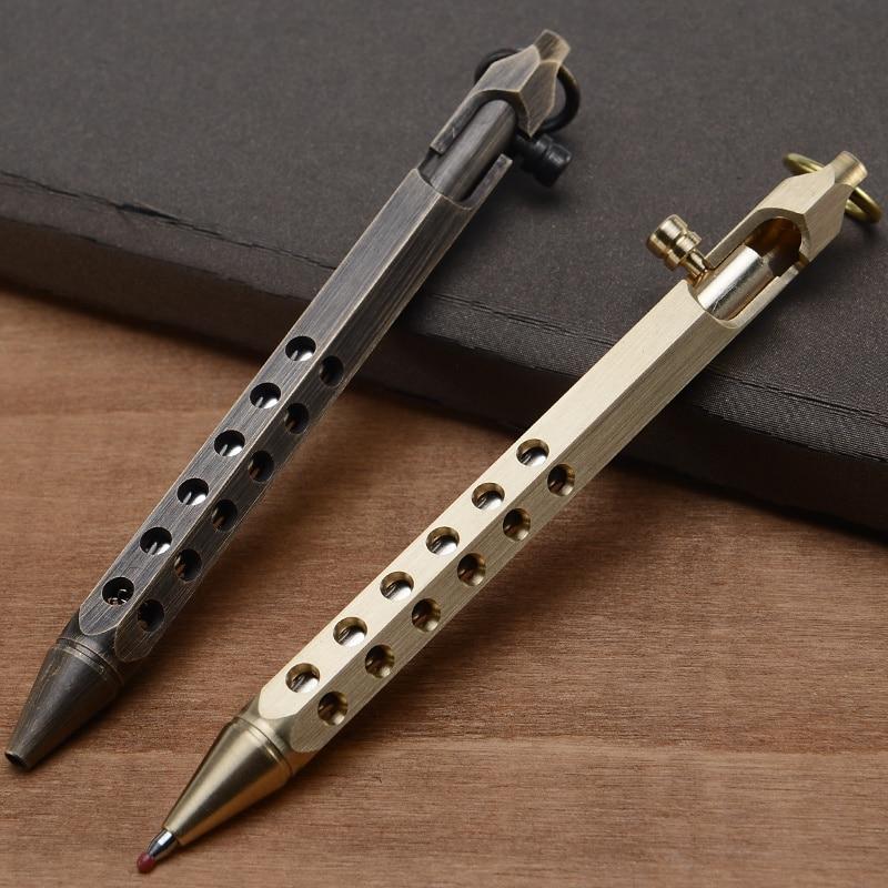 2019 High Quality Tactical Brass Pen Self Defense Pen Tool Multipurpose Brass Anti-skid Portable Tactical Pen