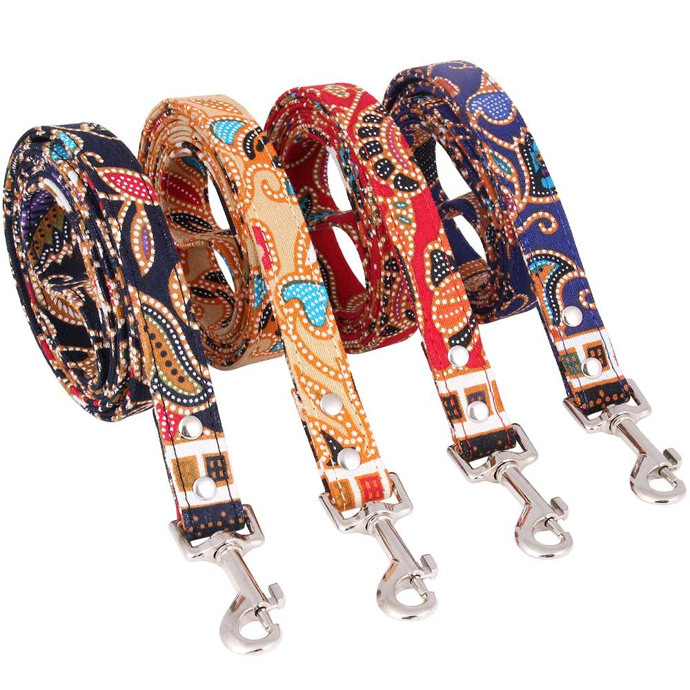 Pet Supplies Nation New Style Bohemian Style Pet Colorful Cloth Fabric Origional Dog Traction Pet Traction Rope