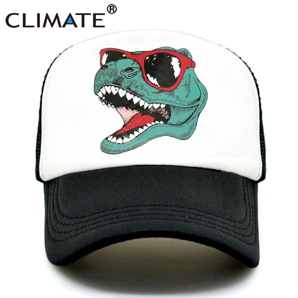 CLIMATE Jurassic Dinosaur Park Trucker Cap Men Funny Cool Trucker Cap Jurassic World Cool Black Mesh Cool Cap