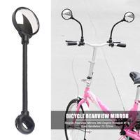 자전거 후면보기 미러 유연한 안전 라운드 mtb 자전거 핸들 바 왼쪽/오른쪽 미러 교체 자전거 액세서리