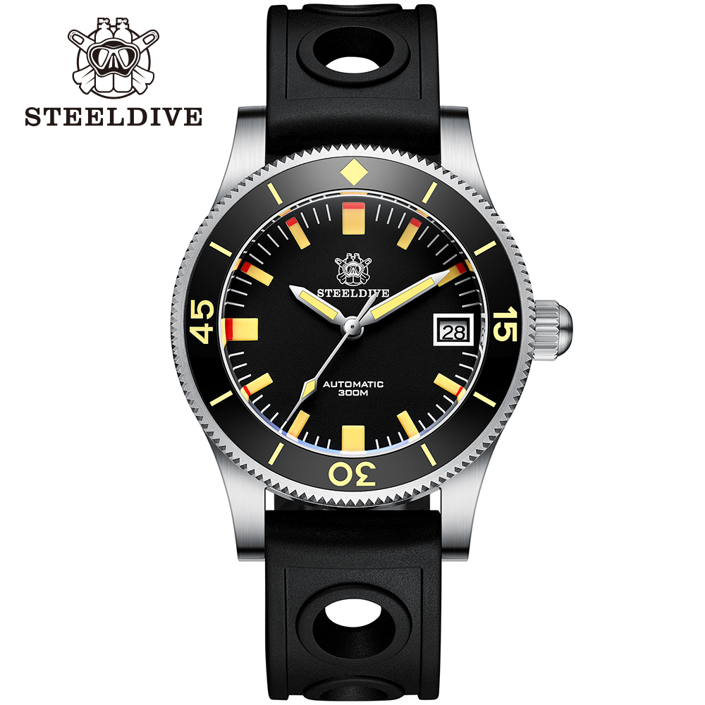 Steeldive SD1952T Japan NH35 Automatic Watches Ceramic Bezel Diving Wrist Watches Men 3