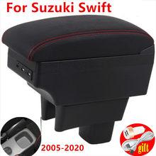مسند ذراع لسوزوكي سويفت ، صندوق مسند ذراع وحدة التحكم المركزية مع USB 2005-2020 2006 2007 2009 2010 2011 2012 2014 2016 2018