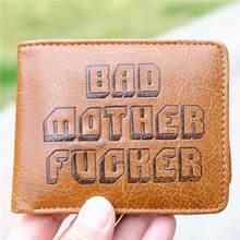 Filme de ficção de polpa bmf má mãe gravando moeda couro do plutônio carteira bolsa titular camada legal quente 11.5cm
