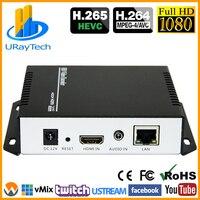 URay MPEG4 HDMI To IP Live Streaming Video Encoder H.264 RTMP Encoder HDMI Encoder IPTV H264 With HLS HTTP RTSP UDP