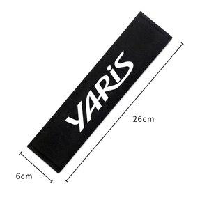 2 шт., автомобильные подушечки для ремня безопасности, защитная Наплечная накладка на подушку для Toyota yaris 2013 -2016 Yaris L 2017 -2019
