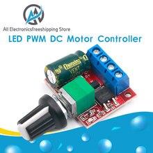 Módulo regulador de Control de controlador de velocidad del Motor de CC PWM, 4,5-35V, 90W, con función de interruptor 5A, tablero atenuador LED de 20KHz