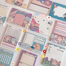Yisuremia Kawaii 50 arkuszy notatniki karteczki Do notowania Do zrobienia lista kontrolna terminarz notatnik Paperlaria koreański szkoła papiernicze