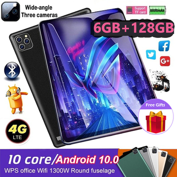 WiFi Tablet PC 10.1 Inch Ten Core 4G Network Android 8.1 Arge 2560x1600 IPS Screen Dual SIM Dual Camera Rear 13.0 MP IPS