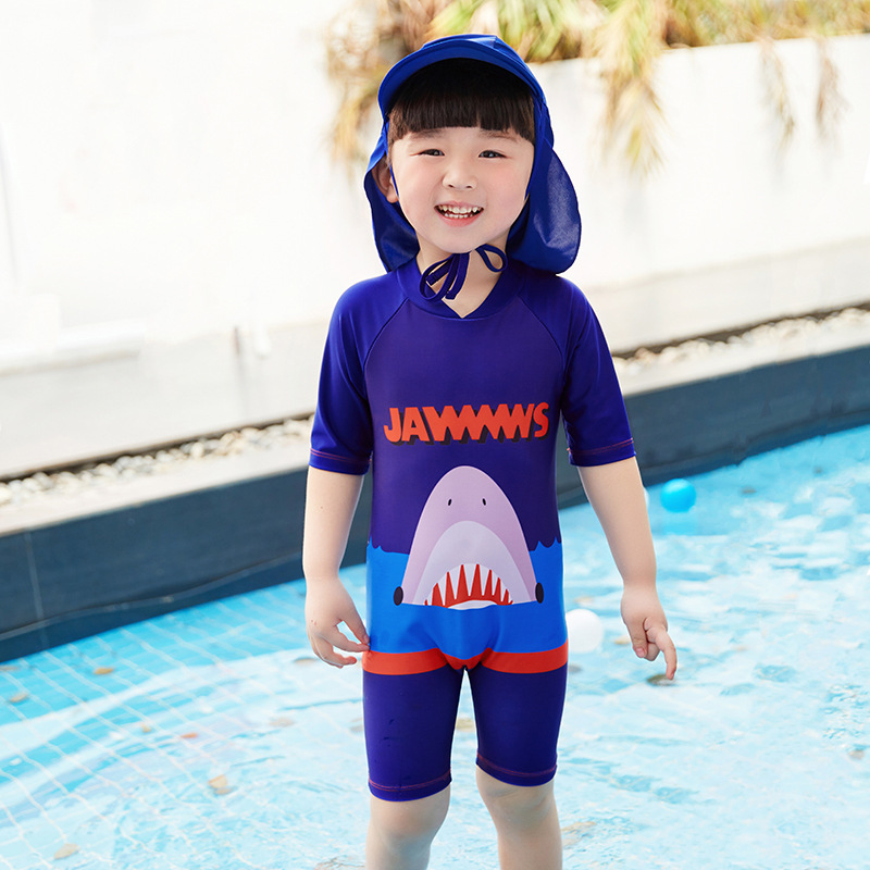 New Style Children AliExpress Sun-resistant Snorkeling Suit BOY'S Siamese Swimsuit Children Swimwear Quick-Dry Wetsuit