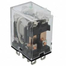 цена на Electromechanical Relay 12VDC LYQ2-DC12Relay, E-Mech, DPDT, 12VDC Coil, 10A, Plug-In/Solder Terminals, Bracket Mount