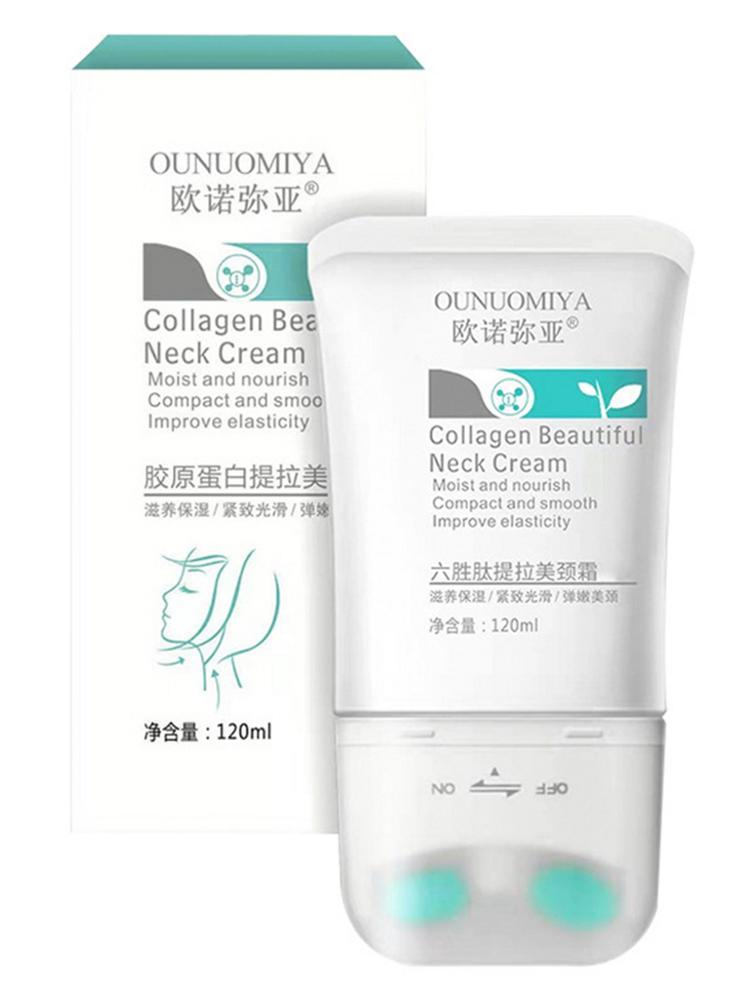 Двойной v-тип крем для шеи 120 г массажер питает уход за кожей шеи для выцветания декольте морщин лифтинг, укрепление осветления шеи маска