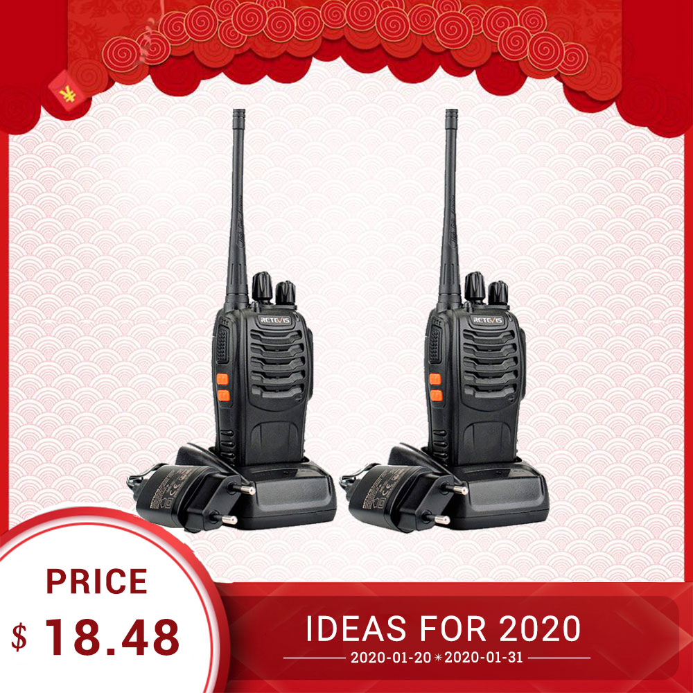 Rechape H777 talkie-walkie professionnel 2 pièces 3W UHF pratique émetteur-récepteur Radio bidirectionnel USB Rechargeable talkie-walkie communicateur
