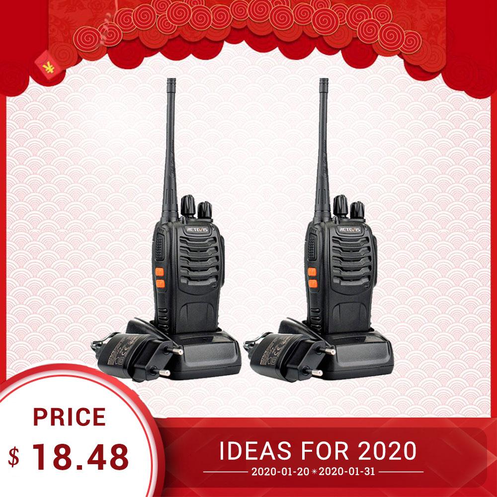 Retevis H777 Professional Walkie Talkie 2pcs 3W UHF Handy Two-Way Radio Transceiver USB Rechargeable Walkie-Talkie Communicator