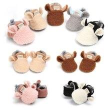 Lamb-Slippers Trainers Crawling-Shoes Toddler Newborn-Baby Girl Boy Winter Prewalker