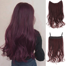 Hair-Extension Fishing-Line Wavy Hair Synthetic-55cm Ladies Hidden Without for Xuanguang
