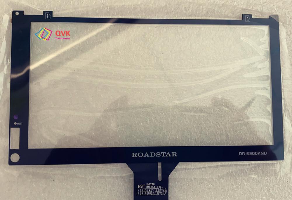 Черный сенсорный экран для ROADSTAR DR-6900AND Автомобильный навигатор gps сенсорный экран панель Ремонт Запасные части