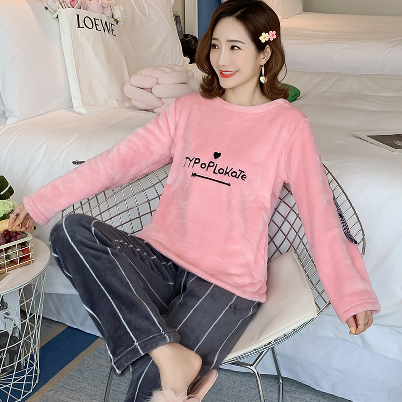 Betyline 2019 New Winter Pajamas For Women Sleepwear Warm Flannel Long Sleeves Pajamas Cute Animal Homewear Thick Homewear 146
