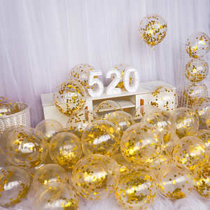 Image 2 - 10 adet 12 inç lateks Confetti balon ilk mutlu doğum günü partisi dekorasyon 1st bir yıl bebek çocuk yetişkin erkek kız düğün malzemeleri