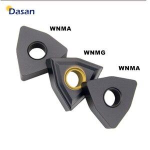Image 2 - 10 sztuk WNMG080404 WNMA060408 wkładki z węglika WNMA toczenie sterowane komputerowo wysokiej jakości ostrze narzędzie Cutter płyta dla żeliwa