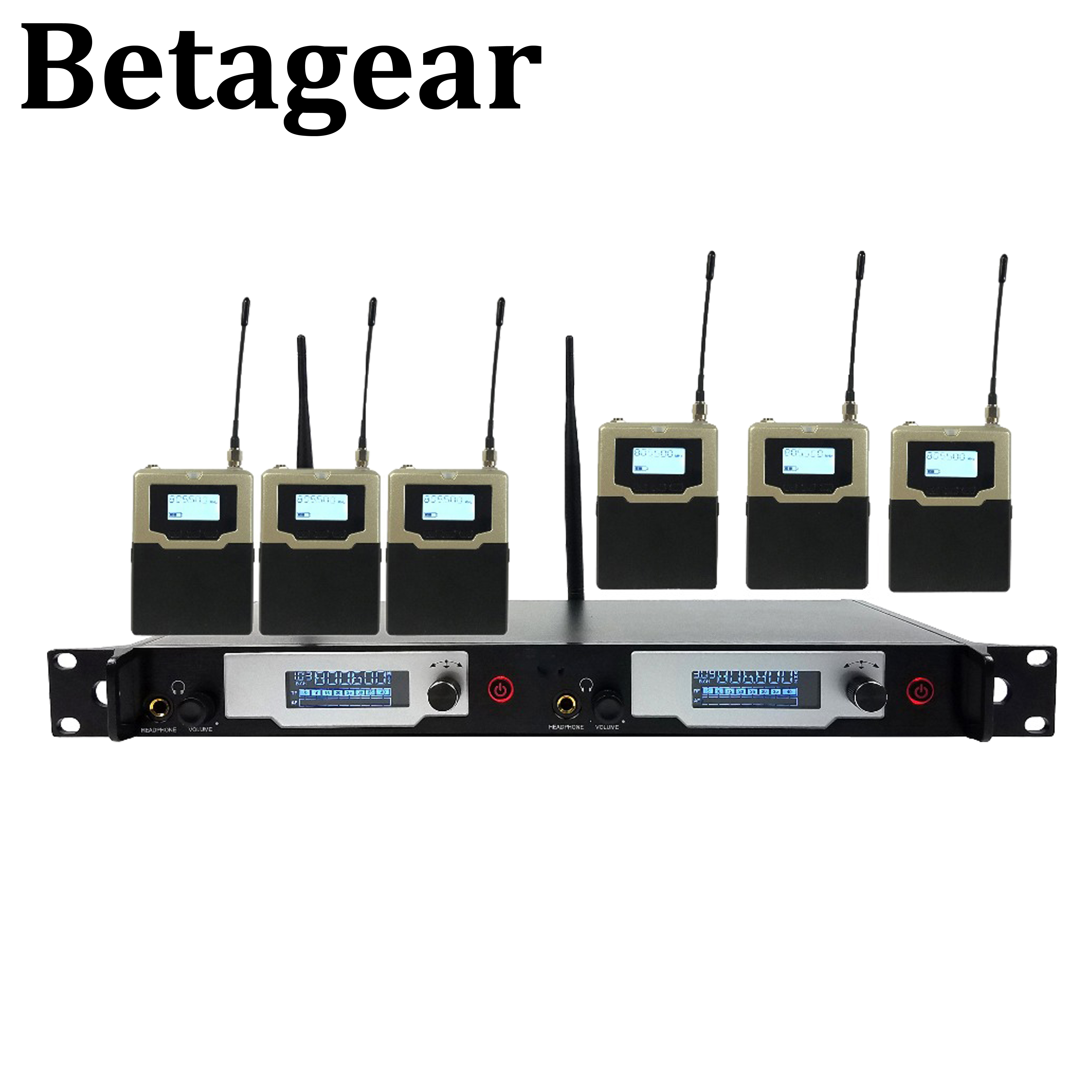 Betagear L9400 UHF IEM monitorowanie sceny w uchu monitor bezprzewodowy system porfessioanl audio 5 odbiornik na występ na scenie