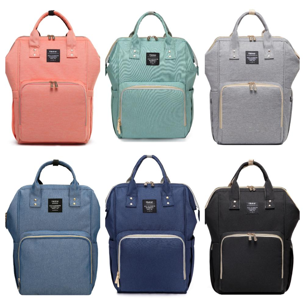 Heine New Style Diaper Bag Multi-functional Large-Volume Mommy Bag Diaper Bag Fashion Pregnant WOMEN'S Nursing Shoulder Backpack
