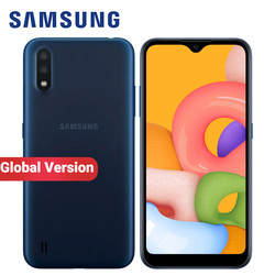 Global Version Samsung Galaxy A01 A015F-DS Mobile Phone Dual SIM 2GB RAM 16GB ROM 5.7 inch 13MP FM radio 3000mAh 4G Smartphone