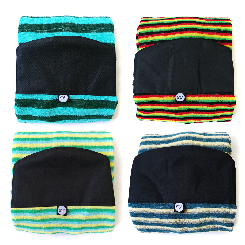 Black and Red Striped 6ft Travel Portable Surfing Surfboard Bag Sock Cover