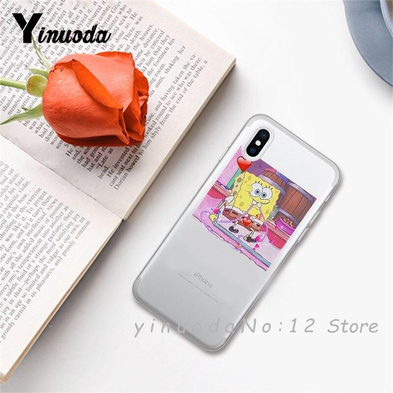 Yinuoda супер милый кот собака мультфильм розовый в форме сердца ты и я серия HD Прозрачный чехол для телефона для iphone 6 7 8 Plus X XS XSMax 5S - Цвет: 15