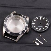 Детали для часов 41 мм, чехол для часов с покрытием из латуни 316L S Steel, подходит для ETA 2836/2824 Miyota8215 821A, механизм для мужских часов
