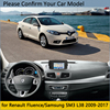 Dashboard Cover Protective Pad for Renault Fluence 2009 2017 Samsung SM3 Car Accessories Dash Board Sunshade Carpet 2015 2016 review
