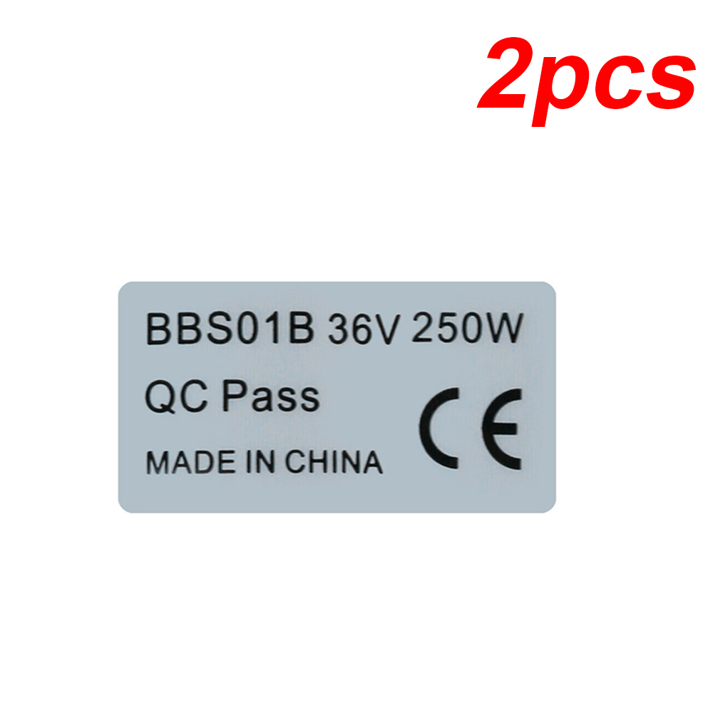 2pcs Anti Scratch Polyester Label Stickers For BAFANG BBS01B/BBS02B 36V/48V 250W/750W Silver Attachment Removable