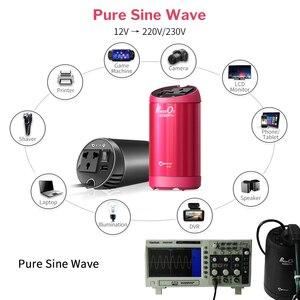 Image 3 - XP نقية شرط موجة محول طاقة السيارة 12 فولت 220 فولت Inversor 12 فولت 220 فولت تيار مستمر إلى التيار المتناوب السيارات 230 فولت محول جهد كهربي شاحن سريع QC 3.0