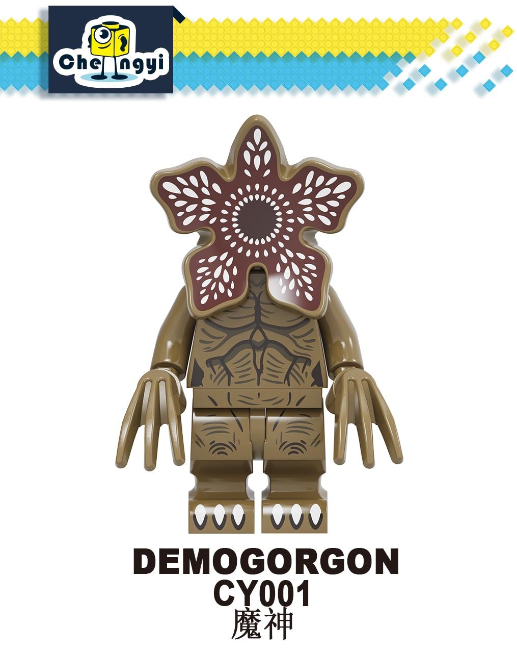 CY001 Demogorgon Building Blocks Mini Strange Things Figures Eleven Mike Hopper Dustin Will Bricks Children Toys