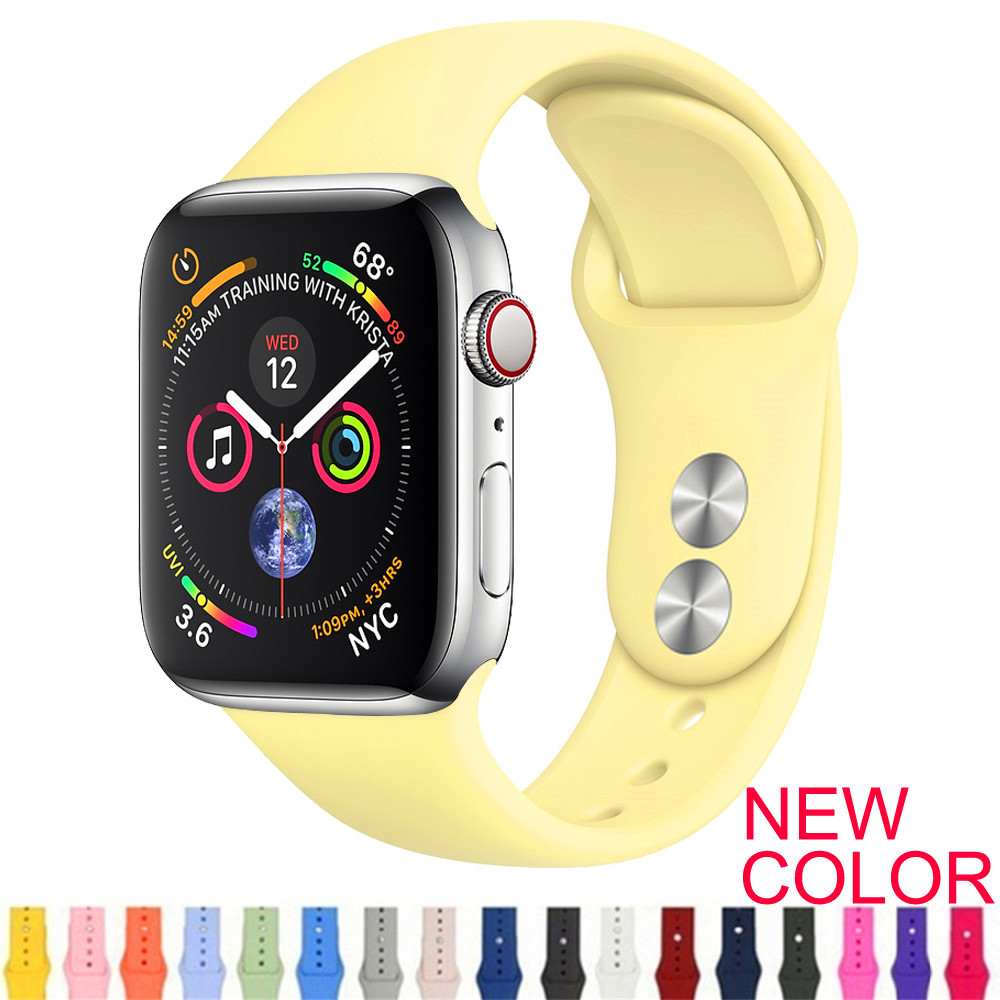 Strap For Apple Watch 4 3 2 1 Silicone Strap Iwatch Band Bracelet Apple Watch 4 3 2 1 Pulseira Apple Watch Correa Watch Belt