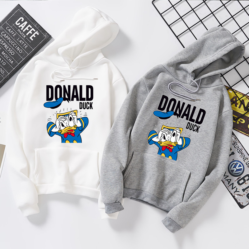2020 Spring New Donald Duck Cartoon Print Women's Hoodies New Korean Edition Students'Loose Long Sleeve Jacket S6282