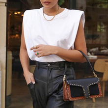 Vicabo Sleeeless Tops Women Summer White Tshirt for Woman O-neck Casual High Str