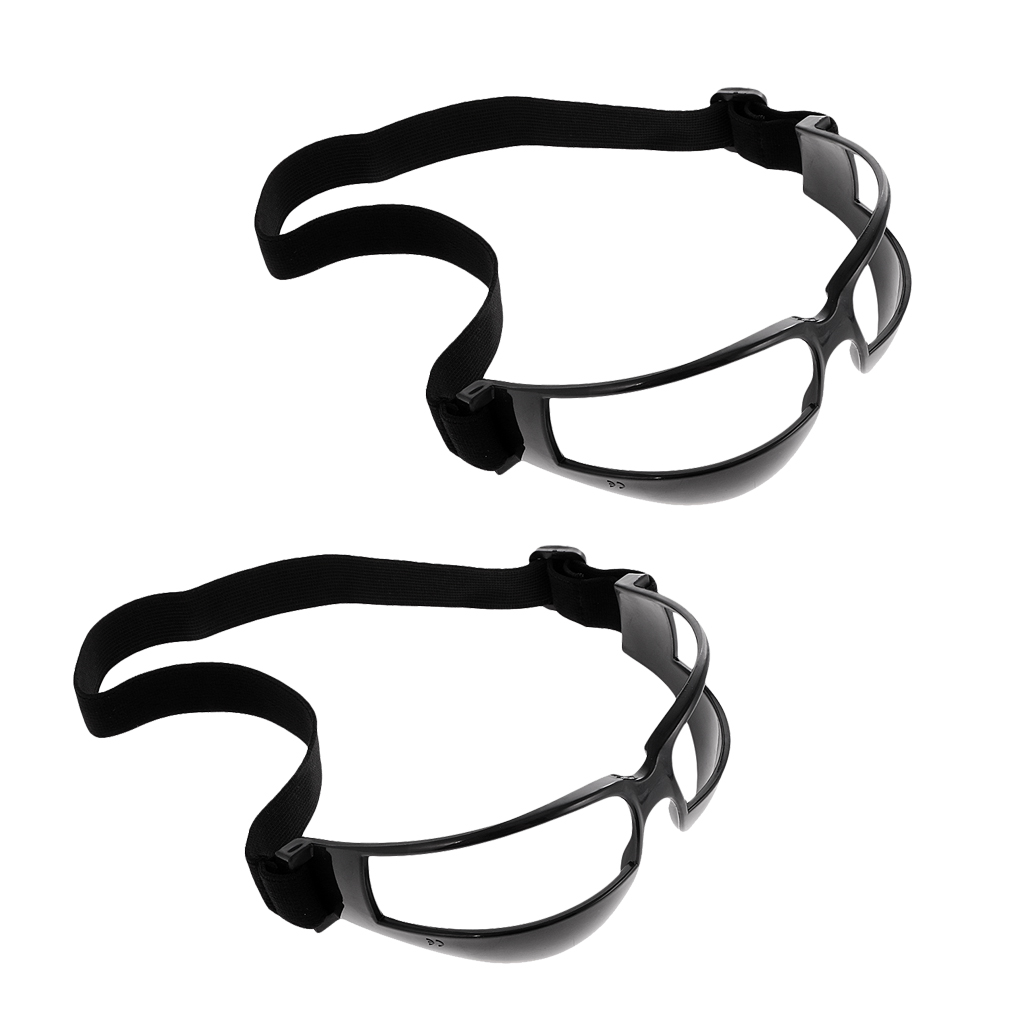 2 Pack Basketball Dribbling Glasses Goggles Dribble Specs - Team Sports Training Aid Supplies - Adjustable & Durable