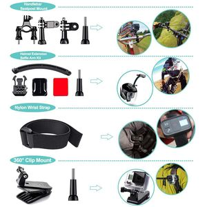 Image 5 - FULL 50 in 1 Action Camera Accessories Kit for GoPro Hero 2018 GoPro Hero6 5 4 3 Carrying Case/Chest Strap/Octopus Tripod