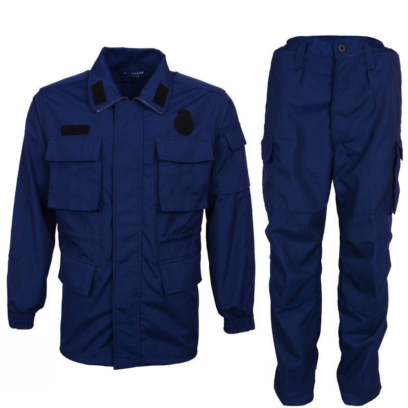 Navy Blue Army Combat Training Clothes Winter Summer Long Sleeve Wearproof Military Uniform Outdoor Field Tactical Jacket Pants