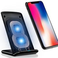 Qi m620 desktop vertical do telefone móvel carregador sem fio transmissor chip inteligente suporte de carregamento rápido para: iphone samsung huawei|Carregadores sem Fio| |  -