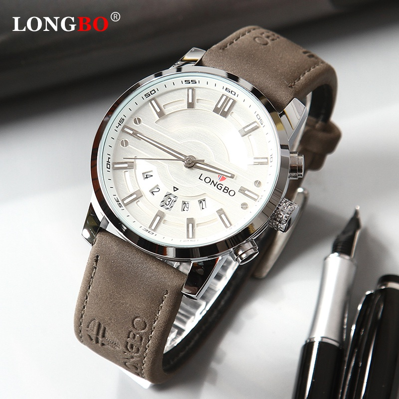 LONGBO 2020 New Men Watch Top Luxury Brand Waterproof Quartz Men's Leather Analog Sports Digital Male Clock Relogio Masculino