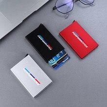 Carteira inteligente automaticamente metal banco titular do cartão de crédito fino cartão de identificação caso rfid para bmw bmw e46 e39 e90 e91 e60 e36 e92 e30 e34
