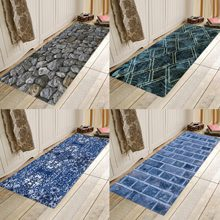 Black and white plaid, blue plaid, flannels, water absorbent, anti-skid homes, door mat, bathroom mat, bed mat. pebble series flannel printing home anti slip absorbent entry mat bathroom mat door mat bedside mat