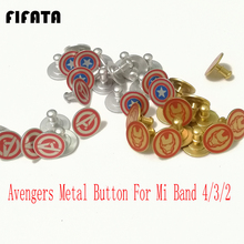 FIFATA The Avengers Metal Button For Xiaomi Mi Band 4 Strap Pattern 4/3/2 smart watch Limited edition