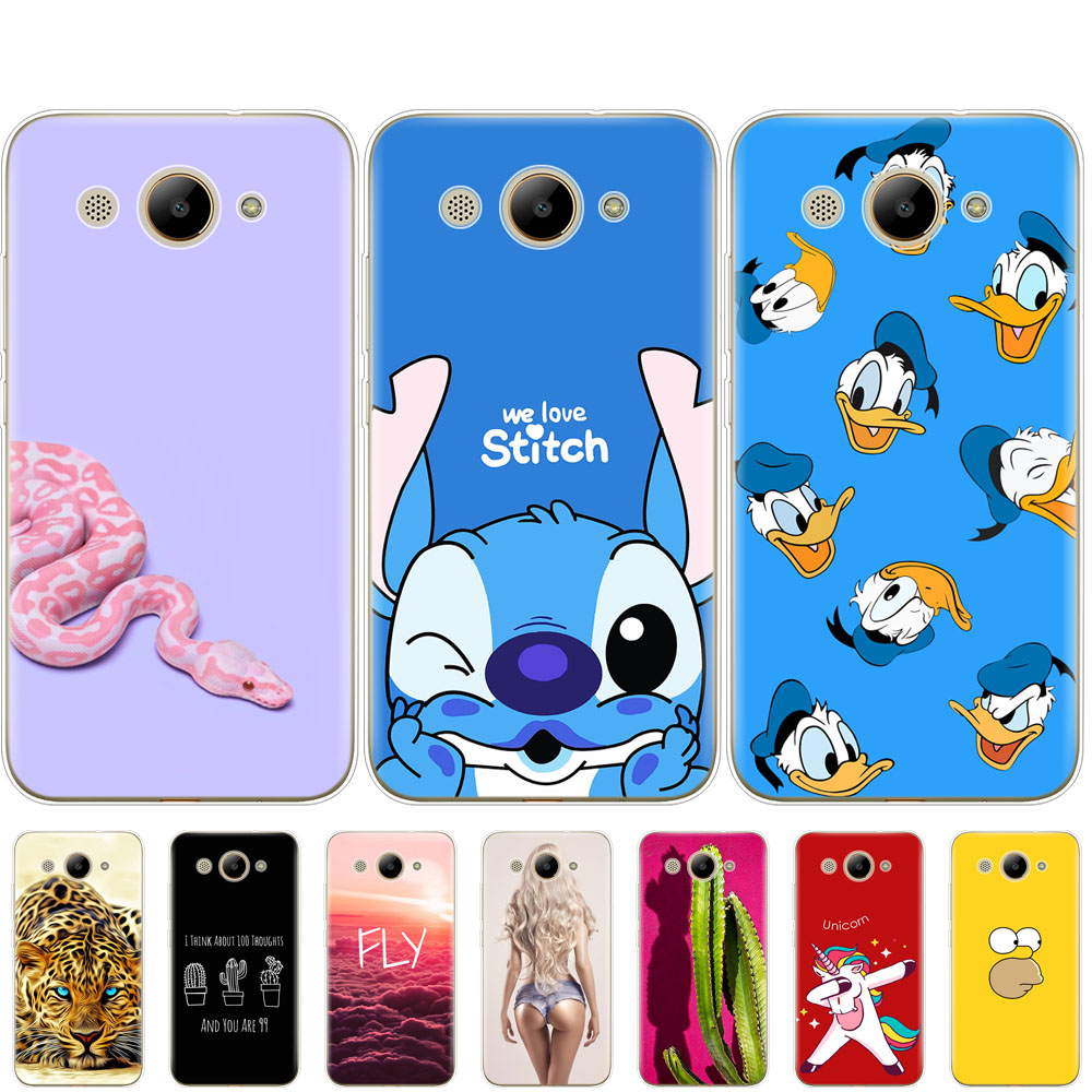 For Huawei Y3 2017 Case Bumper Soft Silicon Phone Cover Shell On For Huawei Y3 2017 Coque 5.0'' TPU Y 3 2017 Shells Protective