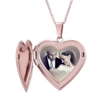 цена на Photo Locket Necklace Custom Name Personalized Photo Heart Shaped Family Pendant Necklace For Women Men Chirdren Christmas Gift