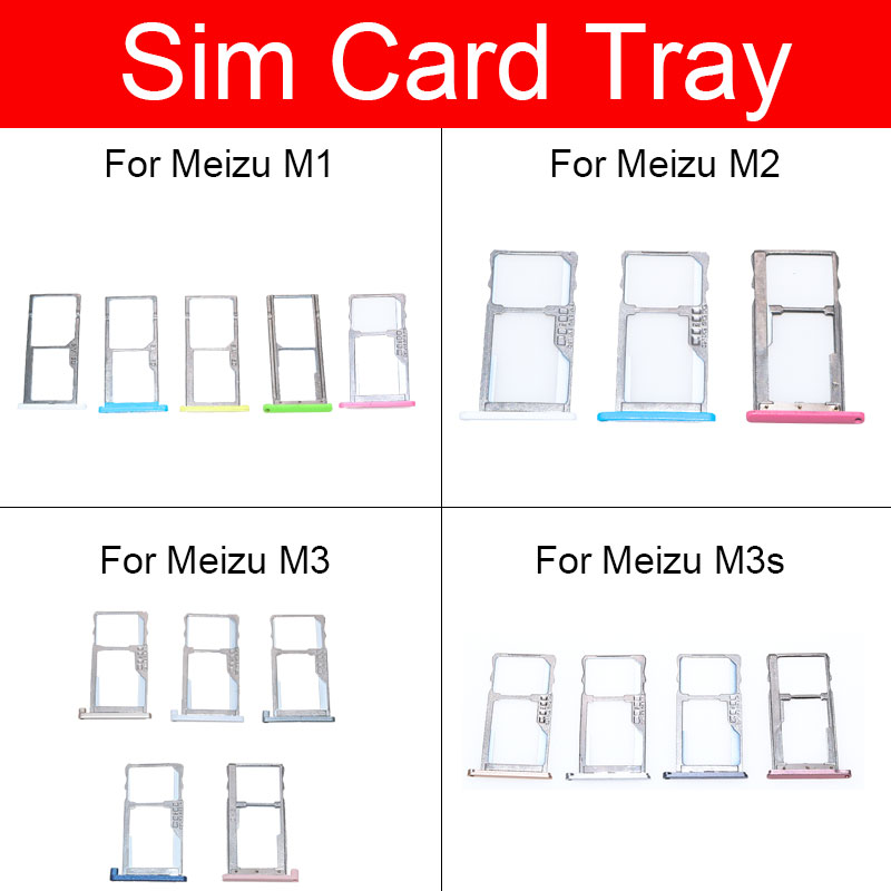 Sim Card Slot Tray Holder For Meizu Charm Blue M1 M2 Mini M3 M3s M578CA Sim SD Memory Card Adapter Replacement Repair Parts