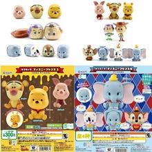 Juegos de modelos de colección de acción de muñecas de juguetes originales de cápsulas de Winnie the pooh de la serie Dumbo de la serie de Mickey