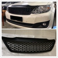 CAR ACCESSORIES MODIFIED FRONT RACING GRILLS ABS GRILL MESH RAPTOR GRILLE MASK TRIMS COVER FIT FOR FORTUNER 2012 2014 CAR PARTS